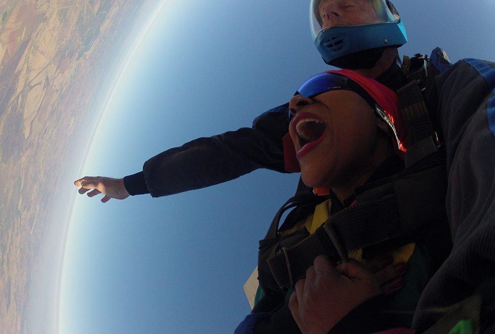 Skydiving for rhinos